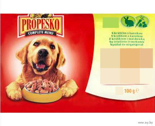 Propesko Pouch Dog Rabbit&Carrot (кролик и морковь) 100гр корм для собак влажный