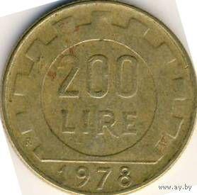Италия 200 лир 1978 года   распродажа