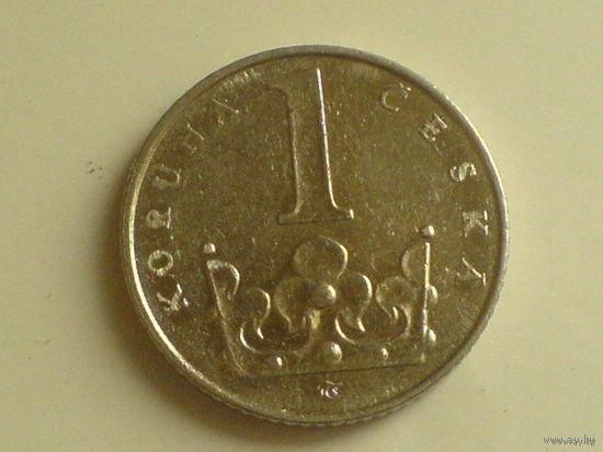 1 крона 1995г Чехия    распродажа